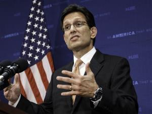 Following his defeat in the Virginia primary Tuesday, House Majority Leader Eric Cantor, R-Va., tells reporters he intends to resign his leadership post at the end of July.