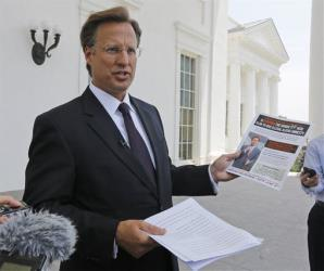 David Brat campaigns in Richmond, Va., before the primary.