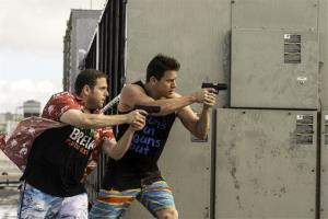 This image released by Sony Pictures shows Jonah Hill, left, and Channing Tatum in Columbia Pictures' 22 Jump Street.
