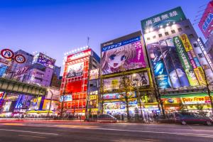 Tokyo's Akihabara district is a center for anime and manga.