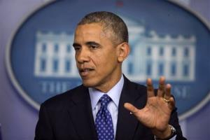 President Obama speaks about the situation in Iraq Thursday.