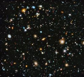 This Hubble Space Telescope shows galaxies in the visible and near infrared light spectrum collected over a nine-year period.