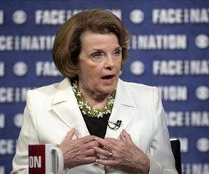 This June 8, 2014 photo provided by CBS News shows U.S. Sen. Dianne Feinstein speaking on CBS' Face the Nation in Washington.