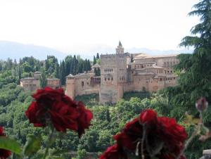 This 2013 photo shows roses in the garden of a mosque in the Albaicin neighborhood in Granada, in Andalusia, Spain.