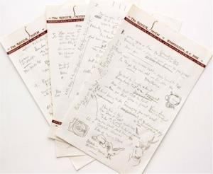 "his undated file photo provided by Sotheby's shows a working draft of Bob Dylan's ""Like a Rolling Stone."