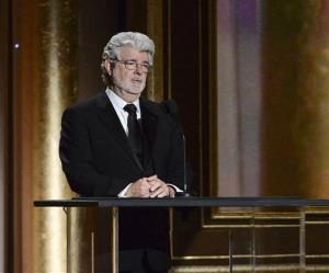 Producer George Lucas speaks at the 2013 Governors Awards on Saturday, Nov. 16, 2013 in Los Angeles.