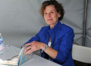 This April 21, 2012 file photo shows author Judy Blume attending the LA Times Festival of Books at the USC Campus in Los Angeles.