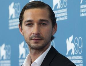 Actor Shia LaBeouf poses at the 69th edition of the Venice Film Festival in Venice, Italy.