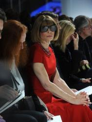 Anna Wintour attends the Dior Cruise 2015 Fashion Show at the Brooklyn Navy Yard on Wednesday, May 7, 2014 ... wearing her trademark sunglasses.