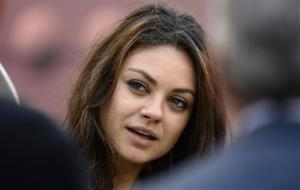 Mila Kunis has two different colored eyes.