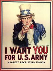 For 71% of Americans 17 to 24, Uncle Sam would point the way out of the recruitment office.