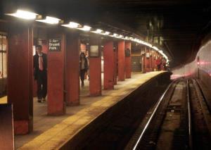 A shot of a NYC subway station.