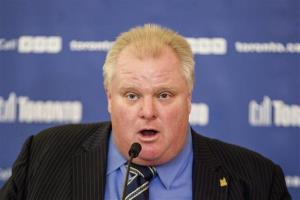 In this Dec. 10 2013 file photo, Toronto Mayor Rob Ford attends a news conference at City Hall in Toronto.