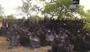 This image is taken from video of the missing girls released by Boko Haram, which says they have converted to Islam.