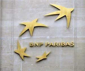 This Feb. 14, 2013, file photo shows BNP Paribas' logo at its headquarters in Paris, France.