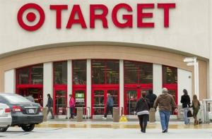 In this Dec. 19, 2013 file photo, shoppers arrive at a Target store in Los Angeles on Thursday, Dec. 19, 2013.