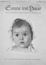 Front cover photograph of Hessy Levinsons, the Jewish winner of the most beautiful Aryan baby contest, published on the cover of a Nazi magazine.