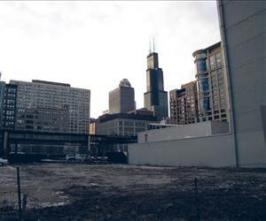 A vacant lot is seen in Chicago in this file photo.
