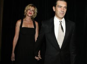 This Aug. 18, 2006 file photo shows actors Antonio Banderas, right, and his wife Melanie Griffith at the Imagen Awards in Beverly Hills, Calif.