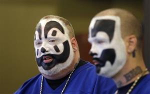 Joseph Bruce, aka Violent J, left, and Joseph Utsler, aka Shaggy 2 Dope, of Insane Clown Posse.