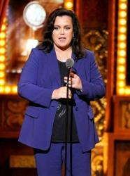 Rosie O'Donnell accepts the Isabelle Stevenson Award at the Tony Awards at Radio City Music Hall on June 8, 2014.