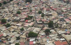 One of the poorest parts of the most expensive city as seen from the air.