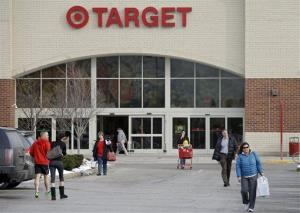 Shoppers leave a Target store in North Olmsted, Ohio Thursday, Dec. 19, 2013.