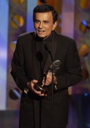 In this Monday, Oct. 27, 2003 file photo, Casey Kasem accepts a radio icon award during the Radio Music Awards in Las Vegas.