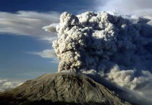 In this July 22, 1980, file photo, Mount St. Helens erupts in Washington State.