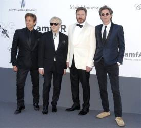 This May 23, 2013, file photo shows members of Duran Duran, from left: Roger Taylor, Nick Rhodes, Simon Le Bon, and John Taylor.