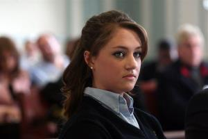 In this Tuesday, March 4, 2014, file photo, high school senior Rachel Canning appears in Morris County Superior Court in Morristown, N.J.