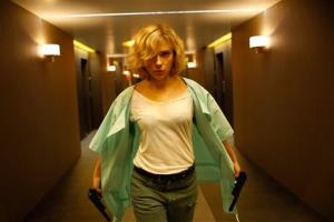 This image released by Universal Pictures shows Scarlett Johansson in a scene from Lucy.