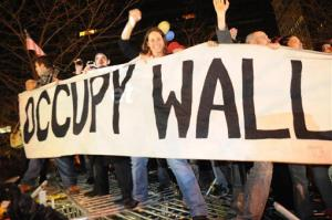 A 2011 file photo of Occupy Wall Street protesters in Zuccotti Park in New York.