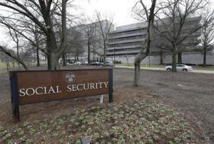 This Jan. 11, 2013, file photo shows the Social Security Administration's main campus in Woodlawn, Md.