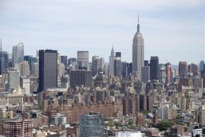 An ariel view of the Manhattan skyline in New York, Friday, June 20, 2014.