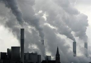In this Feb. 25, 2008, file photo, the chimneys of a coal power plant.