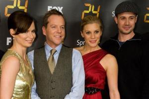 Mary Lynn Rajskub, Kiefer Sutherland, Katee Sackhoff, and Freddie Prinze Jr. were all smiles at the premiere screening for the eighth season of 24 in New York on Jan. 14, 2010.