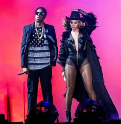 Beyonce and JAY Z perform during the On The Run tour at Minute Maid Park on Friday, July 18, 2014 in Houston, Texas.