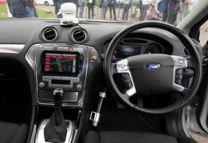 The interior of a driverless car during testing at the headquarters of motor industry research organization MIRA at Nuneaton in the West Midlands, England, Wednesday, July 30, 2014. British officials says driverless cars will be tested on roads in as many as three cities in a trial program to begin...