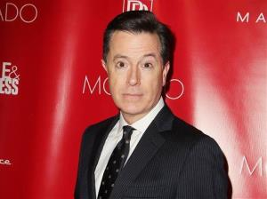 This Jan. 31, 2014, image released by Starpix shows Stephen Colbert at the Shape Magazine and Men's Fitness Super Bowl Party in New York.