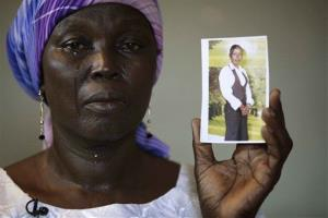 A file photo of Martha Mark, mother of one of the kidnapped girls in Nigeria.