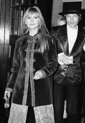 Marianne Faithfull in 1967, along with Mick Jagger.