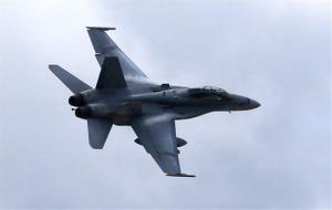 This file photo shows a US Marine F/A-18 Hornet jet, used in the airstrikes.