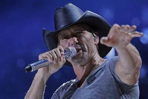Tim McGraw performs during the CMA Fest at LP Field on Thursday, June 5, 2014, in Nashville, Tenn.