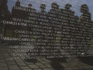 The Vietnam Veterans Memorial in Washington.