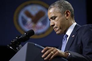 President Obama speaks in in Fort Belvoir, Va., this week.