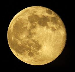 Last month's 'supermoon' is viewed from Whittier, Calif.