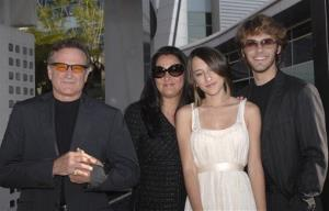 Robin Williams, left, his ex-wife Marsha, center left, daughter Zelda, and Jared Silver attend the premiere of License to Wed on June 25, 2007, in the Hollywood section of Los Angeles.