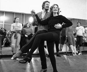 This Jan. 14, 1981, file photo shows Lauren Bacall rehearsing with Eivind Harum, for the musical Woman of the Year in New York.