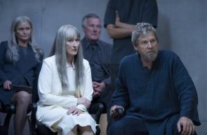 This image released by The Weinstein Company shows Meryl Streep, left, and Jeff Bridges in a scene from The Giver.